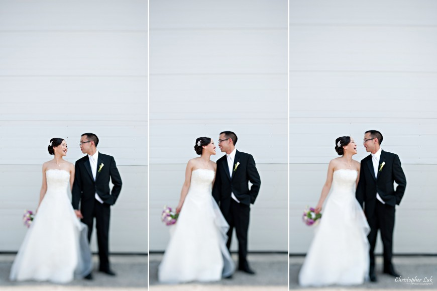 Christopher Luk Wedding 2011 - Lillian and Daniel - Immanuel Baptist Church and Columbus Event Centre Sala Caboto Toronto - Bride and Groom Creative Relaxed Portrait Session Cute
