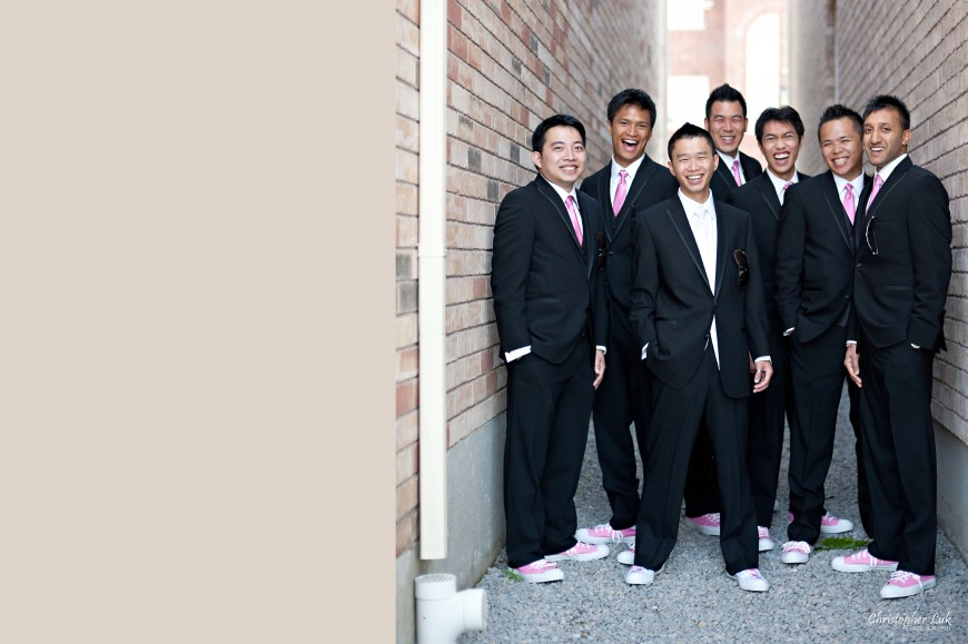 Christopher Luk Wedding 2011 - Toronto Vaughan - Sophia and Johnny - Kleinburg Main Street - Groomsmen