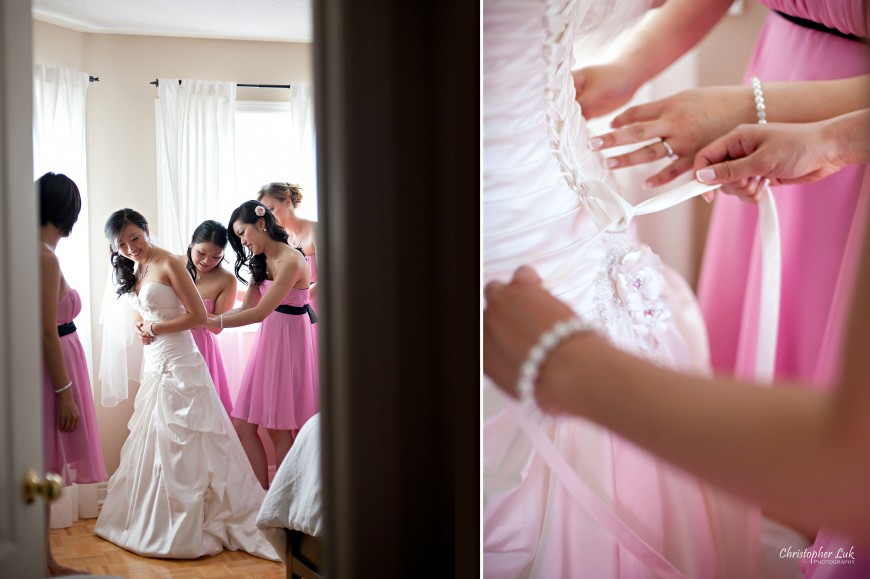 Christopher Luk Wedding 2011 - Toronto Vaughan - Sophia and Johnny - Kleinburg Main Street - Bride Getting Ready