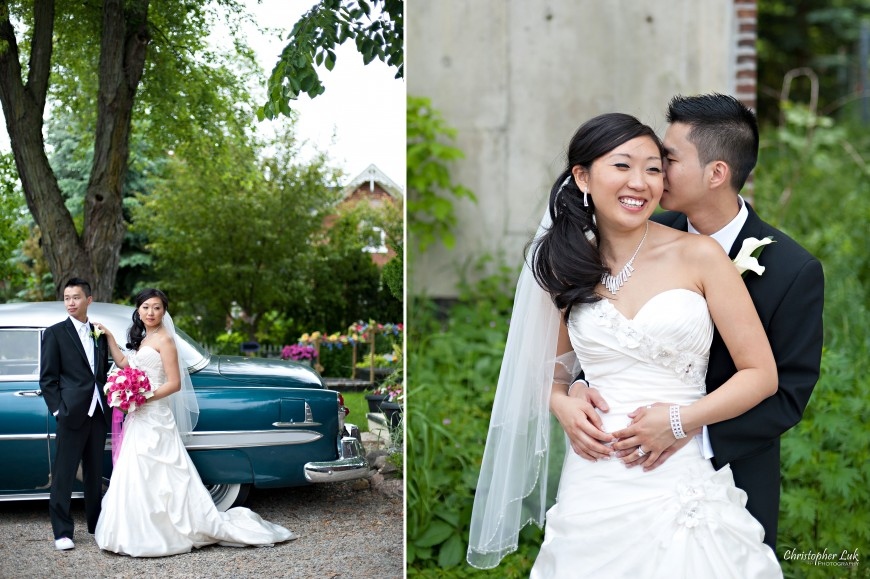 Christopher Luk Wedding 2011 - Toronto Vaughan - Sophia and Johnny - Kleinburg Main Street - Bride and Groom Creative Portraits