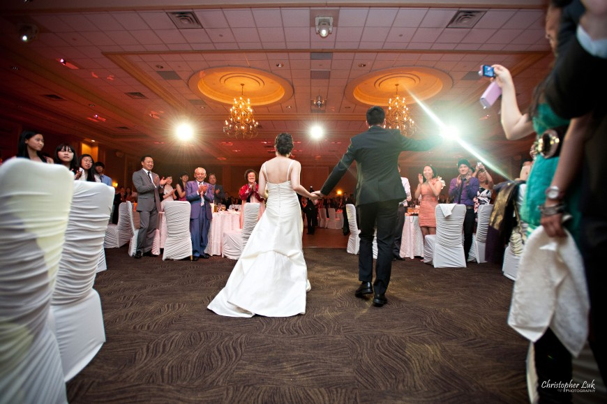 Christopher Luk Wedding 2012 - Joy and Darrick - Yum Kwang Presbyterian Church Toronto The Bellagio Vaughan Ontario - Bride and Groom Dinner Reception Grand Entrance Lighting Music DJ