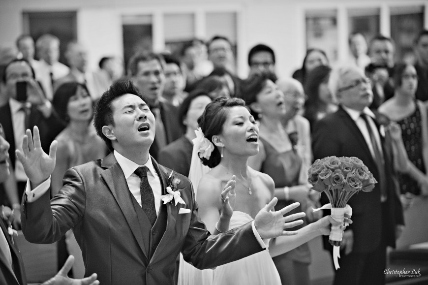 Christopher Luk 2012 - Erin and Brian's Wedding - Toronto Korean Presbyterian Church Bayview Golf and Country Club - Toronto Lifestyle Wedding Photographer - Bride and Groom Christian Music Worship Singing Praise