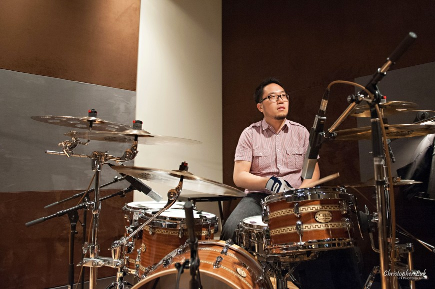 Christopher Luk 2013 - Revolution Recording - Day 1 - Toronto Wedding Portrait Lifestyle Photographer - TRS Custom Drums Drummer