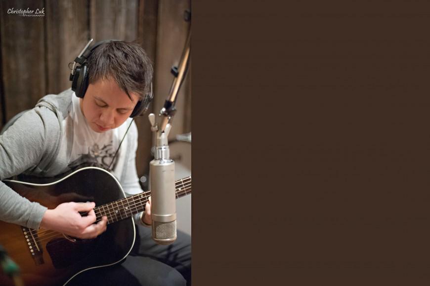 Christopher Luk 2013 - Revolution Recording - Day 1 - Toronto Wedding Portrait Lifestyle Photographer - Guitar Player Guitarist Gibson J45