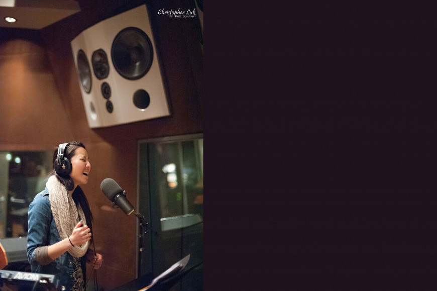 Christopher Luk 2013 - Revolution Recording - Day 2 Studio A - Toronto Wedding Portrait Lifestyle Photographer - Singer Vocalist Tracking Singing