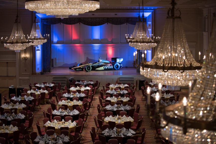 ORBA 2016 Ontario Road Builders Association Annual General Meeting Convention Expo Infrastructure Transportation Fairmont Royal York Hotel Toronto Conference Event Photographer - James Hinchcliffe Indy Race Car Concert Hall Stage Aerial Balcony Chandeliers