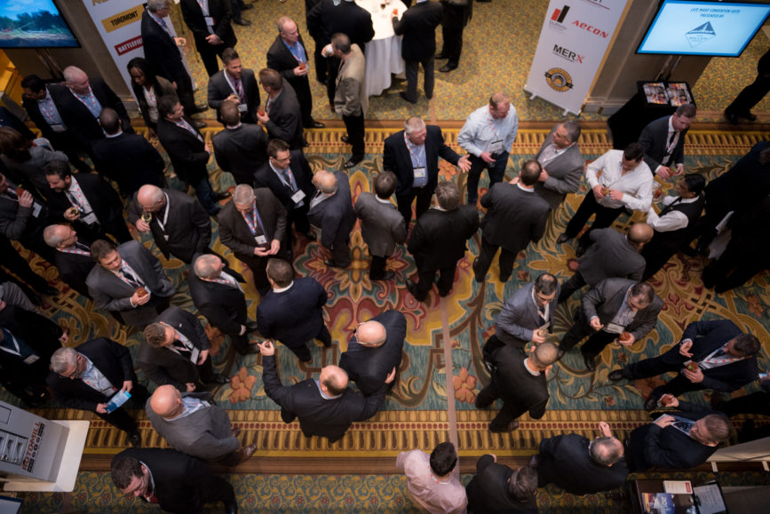 ORBA 2016 Ontario Road Builders Association Annual General Meeting Convention Expo Infrastructure Transportation Fairmont Royal York Hotel Toronto Conference Event Photographer - Attendees Candid Smile Networking Conversations Aerial Wide