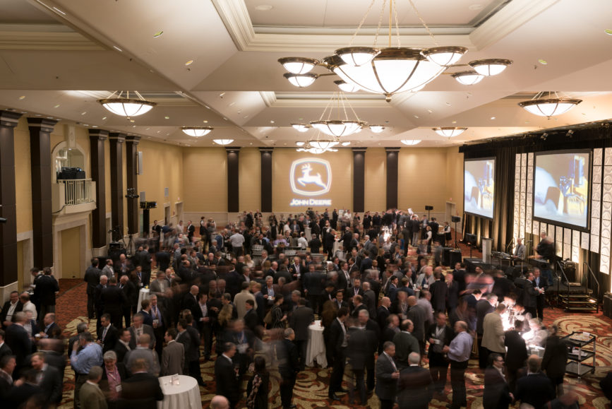 ORBA 2016 Ontario Road Builders Association Annual General Meeting Convention Expo Infrastructure Transportation Fairmont Royal York Hotel Toronto Conference Event Photographer - Canadian Room Standing Cocktail Reception Networking Conversations Balcony Side Wide Centre