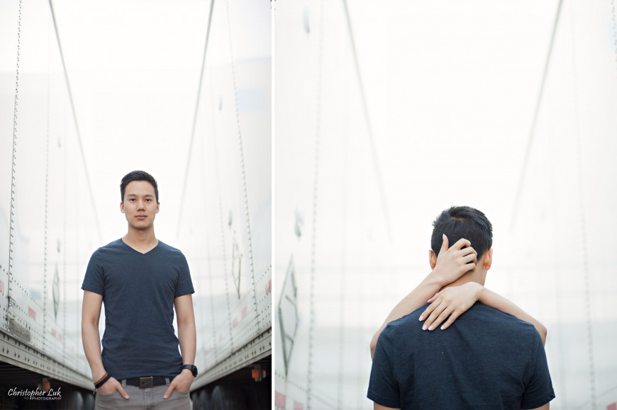 Christopher Luk 2013 - Engagement Session - Yanto and Jon - Richmond Hill Markham York Region - Bride and Groom Fiance Relaxed Creative Portrait Wedding Modern Urban Hug Cool
