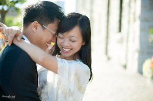 Christopher Luk 2013 - Carmen and Joshua - Engagement Session Distillery District Cherry Beach - Toronto Wedding Event Photographer - Bride and Groom Wrap Hug Smile Laugh