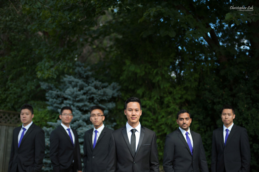 Christopher Luk 2013 - Yanto and Jon's Wedding - The Manor By Peter and Paul's - Toronto Wedding Event Photographer - Groom and Groomsmen Creative Relaxed Portrait Session