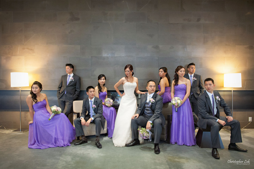 Christopher Luk 2013 - Esther and Johnson's Wedding - The Manor Event Venue By Peter and Pauls Hilton Markham Novotel Vaughan - Toronto Wedding Photographer - Bride and Groom Bridesmaids Groomsmen Bridal Party Modern Urban Creative Natural Relaxed Portrait Session