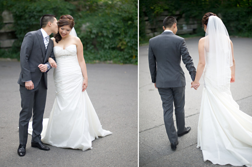 Christopher Luk Wedding - Garrison Bespoke - Toronto Financial District Custom Suit Shirt Tuxedo Sportcoat Overcoat Shoes Tailors - Michael Nguyen Davie Tham JS Vann - Custom Charcoal Grey Gray Suit Surgeons Cuffs Peak Lapel Vest Pants French Cuff Dress Shirt