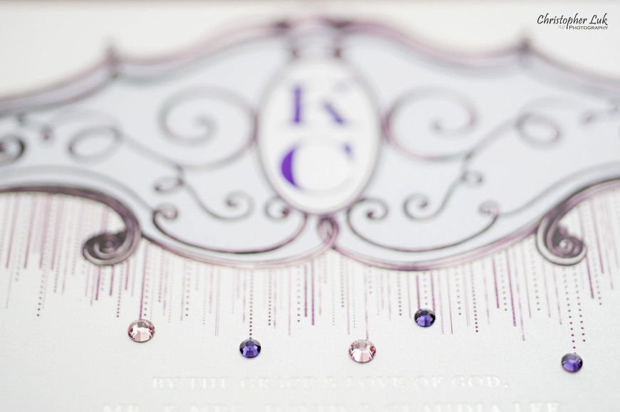 Christopher Luk - Wedding & Lifestyle Photographer - Deborah Lau-Yu of Palettera Custom Correspondences - Chris Kitty Letterpress Envelope Invitation Chandelier Swarovski Crystals Custom Monogram Letterhead Design Title Detail