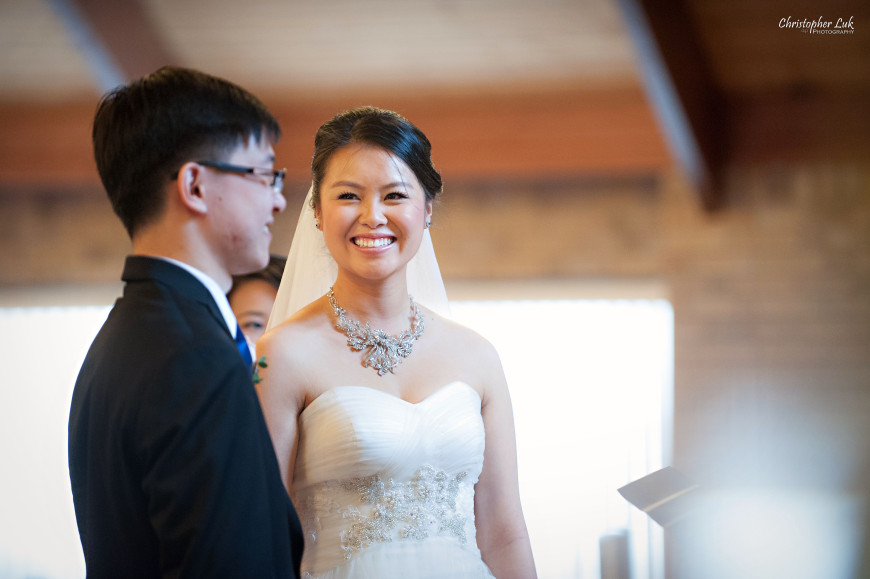 Christopher Luk 2014 - Keren and Mat's Wedding - Hilton Suites Conference Centre Spa Markham Museum Cornerstone Chinese Alliance Church Crystal Fountain - Toronto Wedding and Event Photographer - Bride and Groom Ceremony Creative Relaxed Portrait Photojournalism Candid Natural Smile Laugh Look Vows