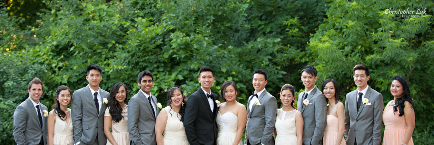 Christopher Luk 2014 - Sarah and Alex's Wedding - Trinity Presbyterian Church York Mills Alexander Muir Memorial Gardens Park Estates of Sunnybrook - Toronto Wedding Event Photographer - Bride and Groom Candid Natural Relaxed Photojournalistic Groomsmen Bridesmaids Bridal Party Smile