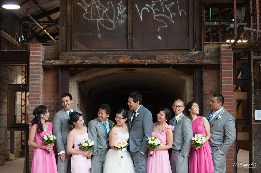 Christopher Luk 2014 - Candy and Francis' Wedding - Grand Hotel Berkeley Field House Evergreen Brick Works - Toronto Wedding Event Photographer - Creative Portrait Session Relaxed Candid Natural Photojournalistic Bride Groom Maid of Honour Bridesmaids Best Man Groomsmen Kilns