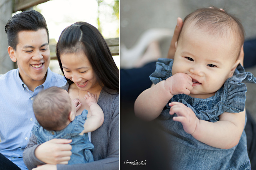 Christopher Luk 2014 - The W Family Baby Girl Lifestyle Session - Toronto Wedding Event Photographer - Mom Dad Baby Girl Sunrise Sunset Relaxed Candid Natural Photojournalistic Play Necklace Teething Sucking Thumb Hands in Mouth
