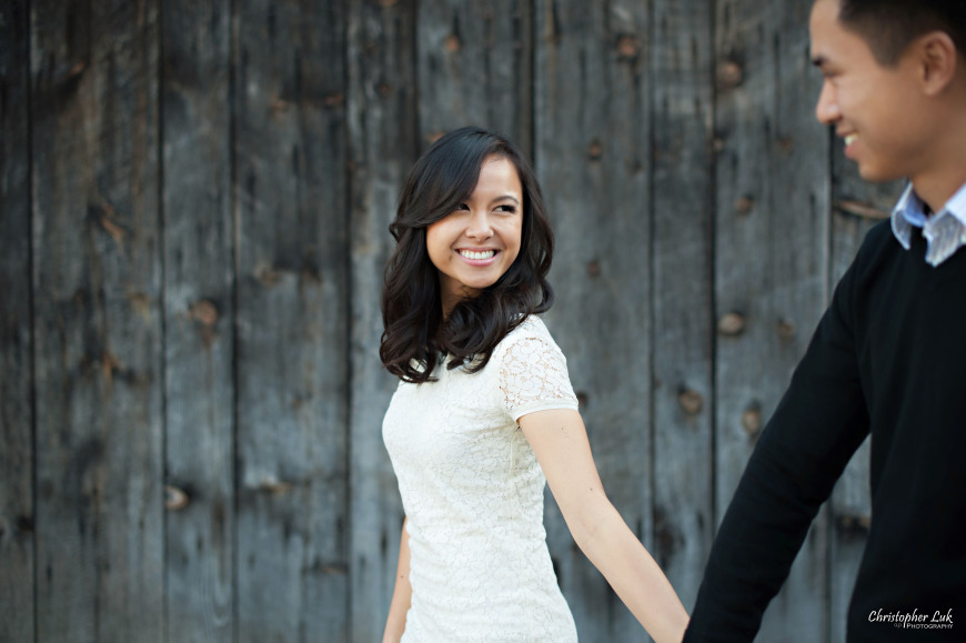Christopher Luk 2014 - Karen and Scott's Engagement Session - Riverdale Farm - Toronto Wedding Event Photographer - Bride and Groom Photojournalistic Natural Relaxed Candid Walking Smile Laugh Barn