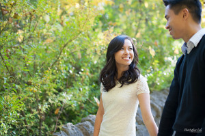 Christopher Luk 2014 - Karen and Scott's Engagement Session - Riverdale Farm - Toronto Wedding Event Photographer - Bride and Groom Photojournalistic Natural Relaxed Candid Walking Smile Laugh Autumn Fall Leaves