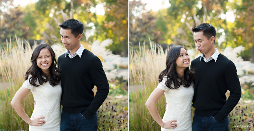 Christopher Luk 2014 - Karen and Scott's Engagement Session - Riverdale Farm - Toronto Wedding Event Photographer - Bride and Groom Casual Fun Relaxed Candid Natural Portraits Funny Faces