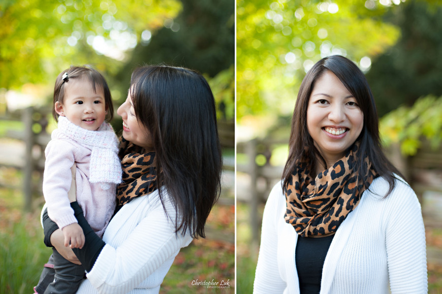 Christopher Luk 2014 - The C Family Baby Toddler Girl Lifestyle Session - Toronto Wedding Event Photographer - Mother Mom Daughter Toddler Baby Girl Smiling Autumn Fall Leaves Photojournalistic Candid Natural Relaxed Laugh Smile Hug