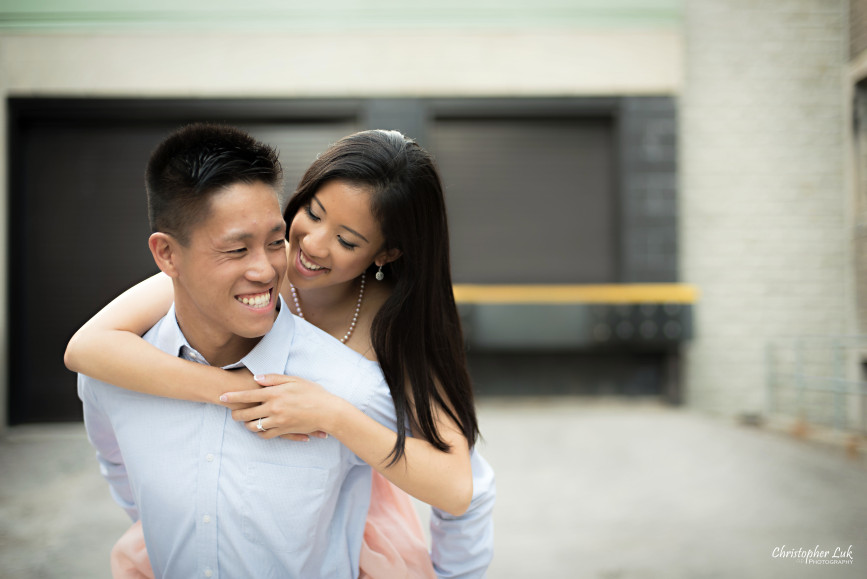 Christopher Luk Engagement Session 2015 - Jaynelle and Ernest - University of Toronto Hart House College Royal Ontario Museum - Bride Groom Cute Piggy Back Ride Fun Laugh Smile