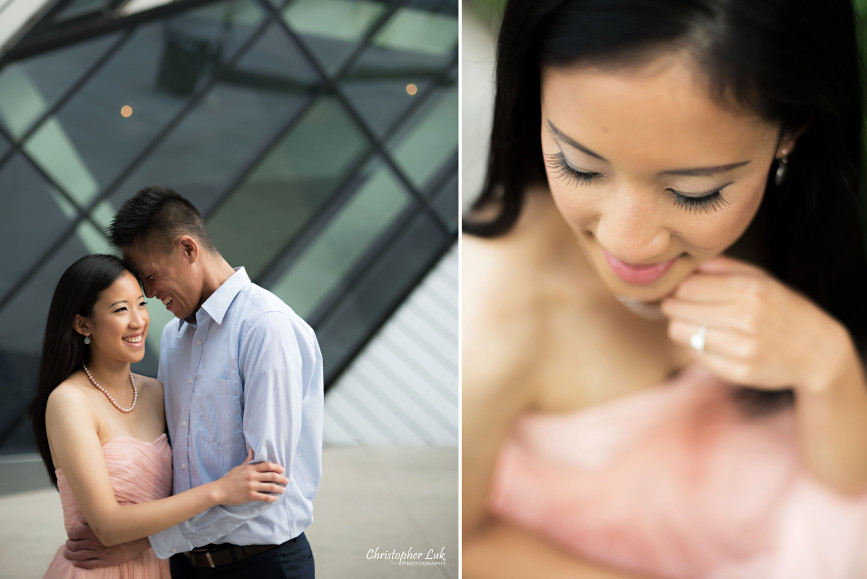 Christopher Luk Engagement Session 2015 - Jaynelle and Ernest - University of Toronto Hart House College Royal Ontario Museum - Bride Groom Cute Fun Laugh Smile Photojournalistic Candid Michael Lee Chin Crystal ROM Hug Ring Makeup Eyelash Detail