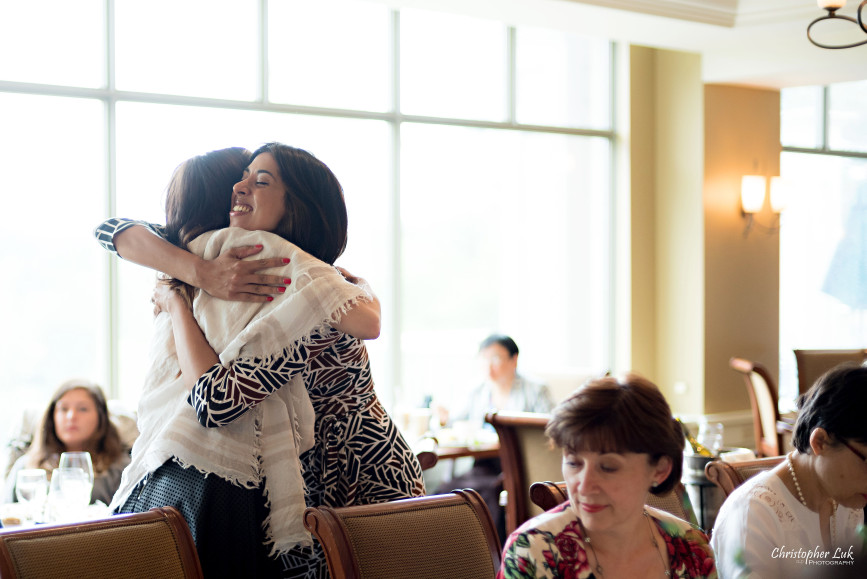 Christopher Luk 2015 - Bridal Shower at The Bayview Golf and Country Club Wedding Engagement Bride Bridesmaids Family Friends Candid Photojournalistic Natural Happy Sister Hug