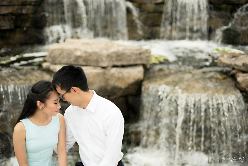 Christopher Luk Engagement Session 2015 - Ying Ying and Alvin - Richmond Hill Green Park Markham York Region - Bride Groom Relaxed Creative Portrait Candid Natural Photojournalistic Intimate Moment Waterfall