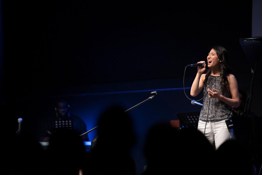 Rachelle Luk Live Concert Gospel Music Association Canada Covenant Award Winner Singer Songwriter Solo His Eye is On The Sparrow