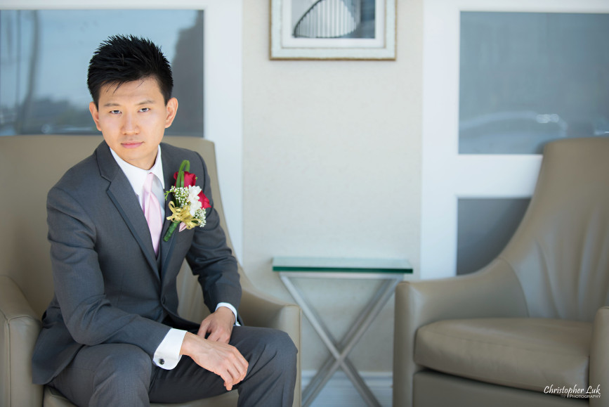 Christopher Luk 2015 - Shauna & Charles Wedding - Groom Portrait