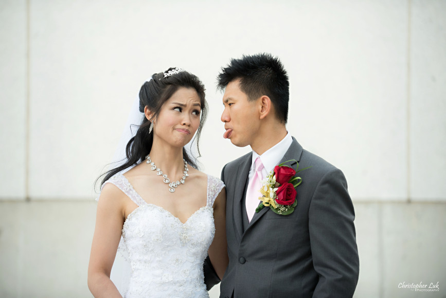 Christopher Luk 2015 - Shauna & Charles Wedding - Bride Groom Funny Faces