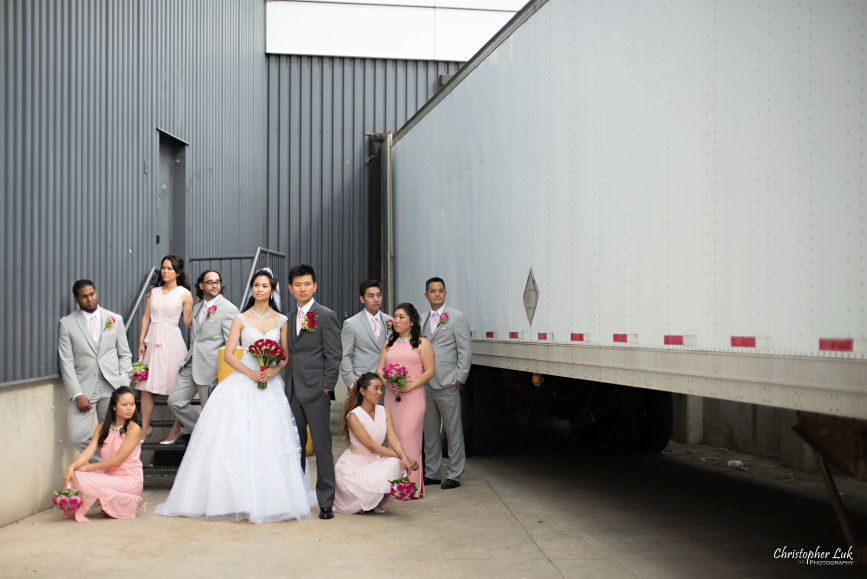 Christopher Luk 2015 - Shauna & Charles Wedding - Bride Groom Bridesmaids Groomsmen Bridal Party Creative Relaxed Portrait Session