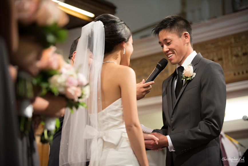 Christopher Luk 2015 - Jaynelle and Ernest's Wedding - Toronto Chinese Baptist Church Osgoode Hall Argonaut Rowing Club Henley Room Waterfront Venue - Bride Groom Ceremony Photojournalistic Natural Candid Vows