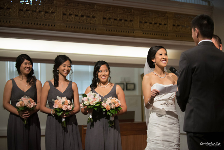 Christopher Luk 2015 - Jaynelle and Ernest's Wedding - Toronto Chinese Baptist Church Osgoode Hall Argonaut Rowing Club Henley Room Waterfront Venue - Bride Groom Ceremony Photojournalistic Natural Candid Vows Smile