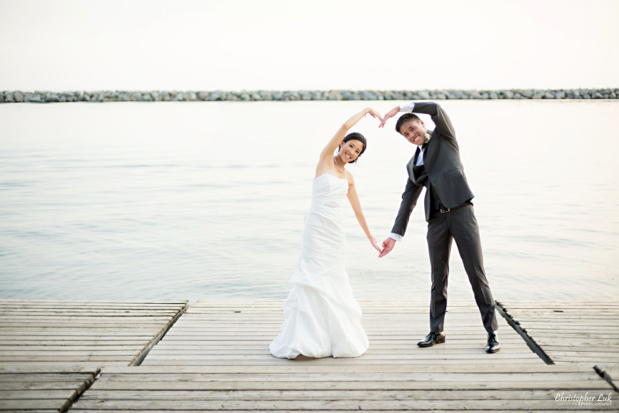 Christopher Luk 2015 - Jaynelle and Ernest's Wedding - Toronto Chinese Baptist Church Osgoode Hall Argonaut Rowing Club Henley Room Waterfront Venue - Bride Groom Creative Relaxed Portrait Session Photojournalistic Natural Candid Posed Lakefront Heart Shape