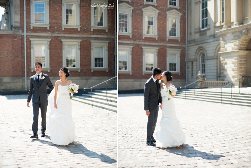 Christopher Luk 2015 - Jaynelle and Ernest's Wedding - Toronto Chinese Baptist Church Osgoode Hall Argonaut Rowing Club Henley Room Waterfront Venue - Bride Groom Creative Relaxed Portrait Session Photojournalistic Natural Candid Posed Walking Kiss