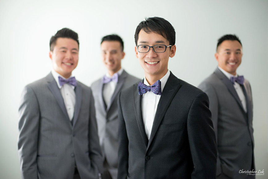 Fall Autumn Wedding Groom Best Man Groomsmen Grey Black Suits