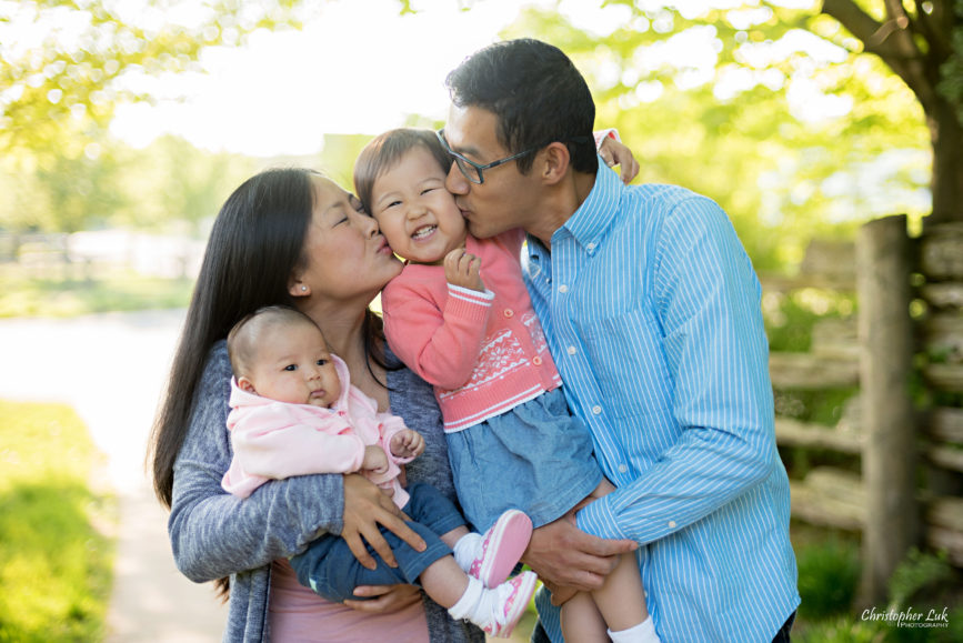 Christopher Luk (Toronto Wedding Portrait Event Photographer): Infant Toddler Children Parents Grandparents Family Pictures Photography Session Photojournalistic Candid Natural Mother Mommy Father Dad Daughter Newborn Baby Girl Hug Kiss Squeeze