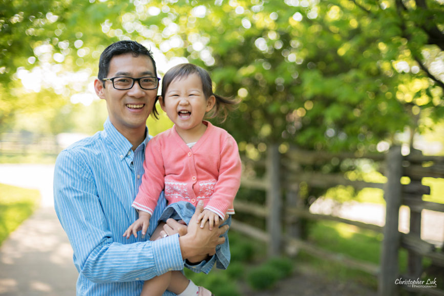 Christopher Luk (Toronto Wedding Portrait Event Photographer): Infant Toddler Children Parents Grandparents Family Pictures Photography Session Father Dad Daughter Baby Girl Smile Funny Face