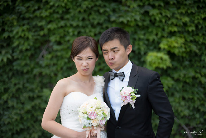 Christopher Luk (Toronto Wedding, Portrait and Event Photographer): Alison and Kenneth's Pre-Wedding Session at The University of Toronto St George Campus Downtown Creative Relaxed Natural Candid Photojournalistic Documentary Lifestyle Bride and Groom Green Ivy Vine Funny Faces Photobooth