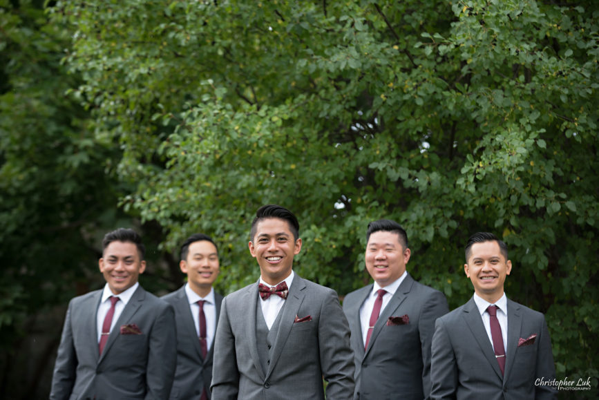 Christopher Luk Toronto Wedding Portrait Lifestyle Event Photographer - Eagles Nest Golf Club Outdoor Ceremony Toronto Raptors Blue Jays Sports Fans Natural Candid Photojournalistic Groom Groomsmen Cool Boy Band Smile
