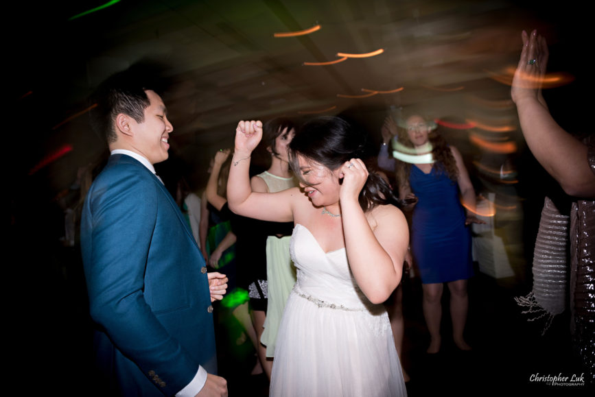 Christopher Luk: Toronto Wedding Photographer: Markham Museum Scarborough Chinese Baptist Church SCBC Columbus Event Centre Sala Caboto Natural Candid Photojournalistic Bride Groom Dancing Fun