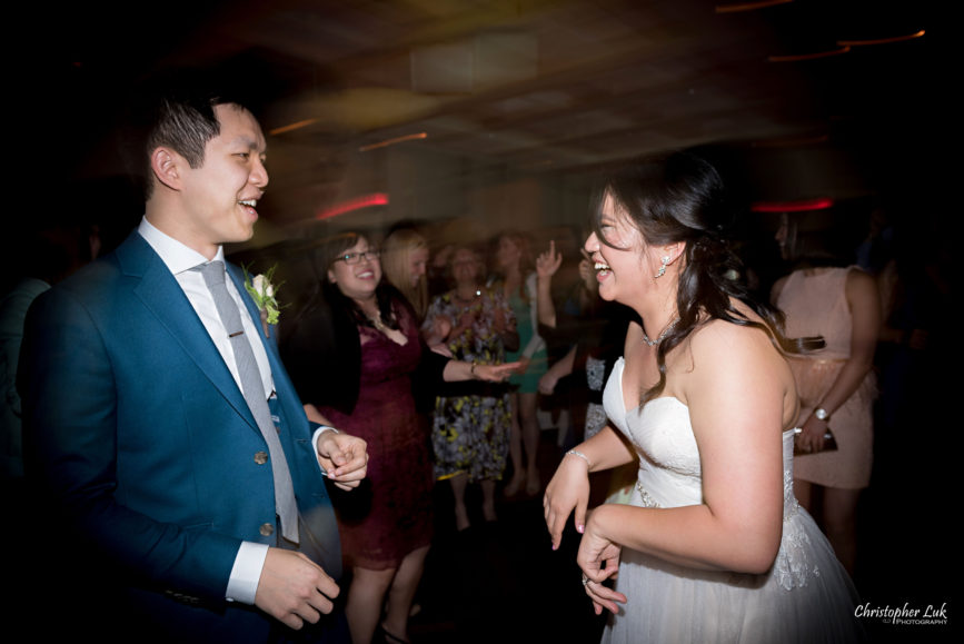 Christopher Luk: Toronto Wedding Photographer: Markham Museum Scarborough Chinese Baptist Church SCBC Columbus Event Centre Sala Caboto Natural Candid Photojournalistic Bride Groom Dancing Laughing