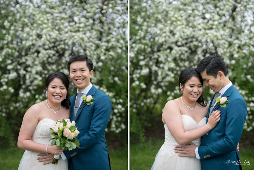 Christopher Luk: Toronto Wedding Photographer: Markham Museum Scarborough Chinese Baptist Church SCBC Columbus Event Centre Sala Caboto Natural Candid Photojournalistic Bride Groom Portrait Floral Bouquet Hug Smile