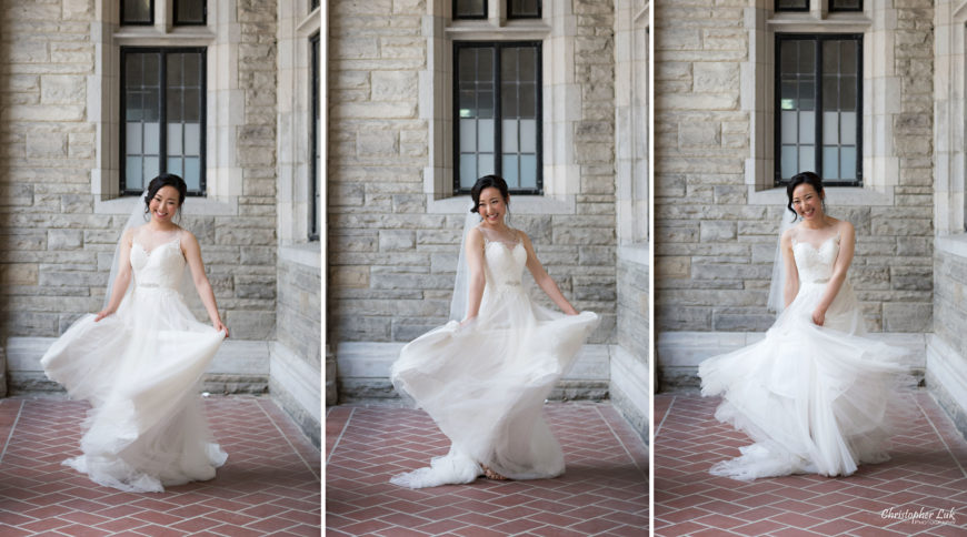 Christopher Luk Toronto Wedding Photographer - Casa Loma Conservatory Ceremony Creative Photo Session ByPeterAndPauls Paramount Event Venue Space Natural Candid Photojournalistic Bride Castle Flowing Movement Tulle Twirl White Dress
