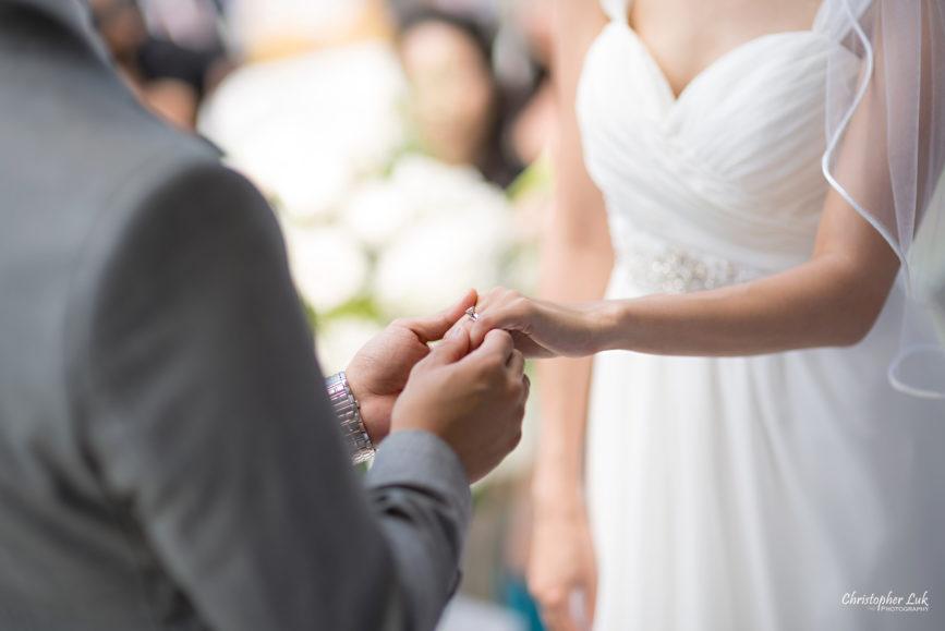 Christopher Luk - Toronto Wedding Lifestyle Event Photographer - Photojournalistic Natural Candid Markham Museum Gazebo Ceremony Bride Groom Exchange of Rings
