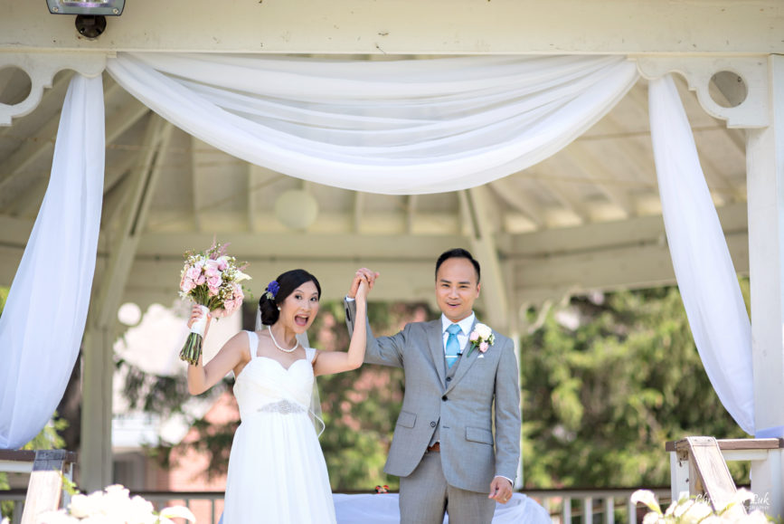 Christopher Luk - Toronto Wedding Lifestyle Event Photographer - Photojournalistic Natural Candid Markham Museum Gazebo Ceremony Bride Groom Processional Recessional Celebration Cheer