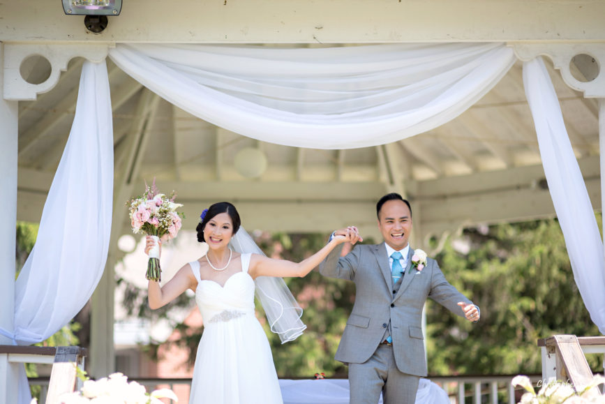 Christopher Luk - Toronto Wedding Lifestyle Event Photographer - Photojournalistic Natural Candid Markham Museum Gazebo Ceremony Bride Groom Processional Recessional Celebration Cheer Dance